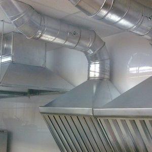 Монтаж вентиляции в кафе